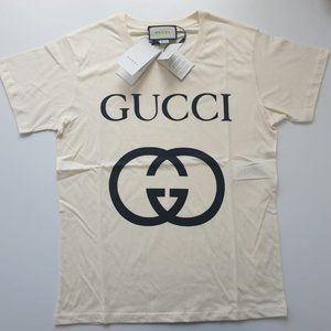 GUCCI MEN INTERLOCKING GG WHITE T-SHIRT